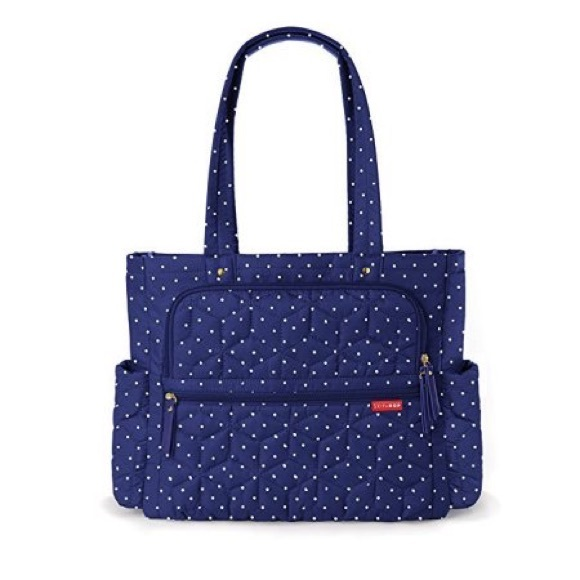 Skip Hop Handbags - SKIP*HOP® Forma Pack & Go Tote Diaper Bag Navy Dot